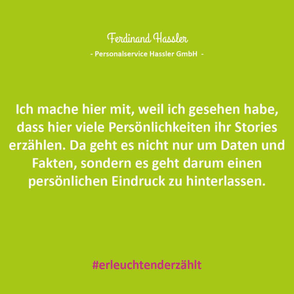 Chef Zitat Ferdinand Hassler Personalservice