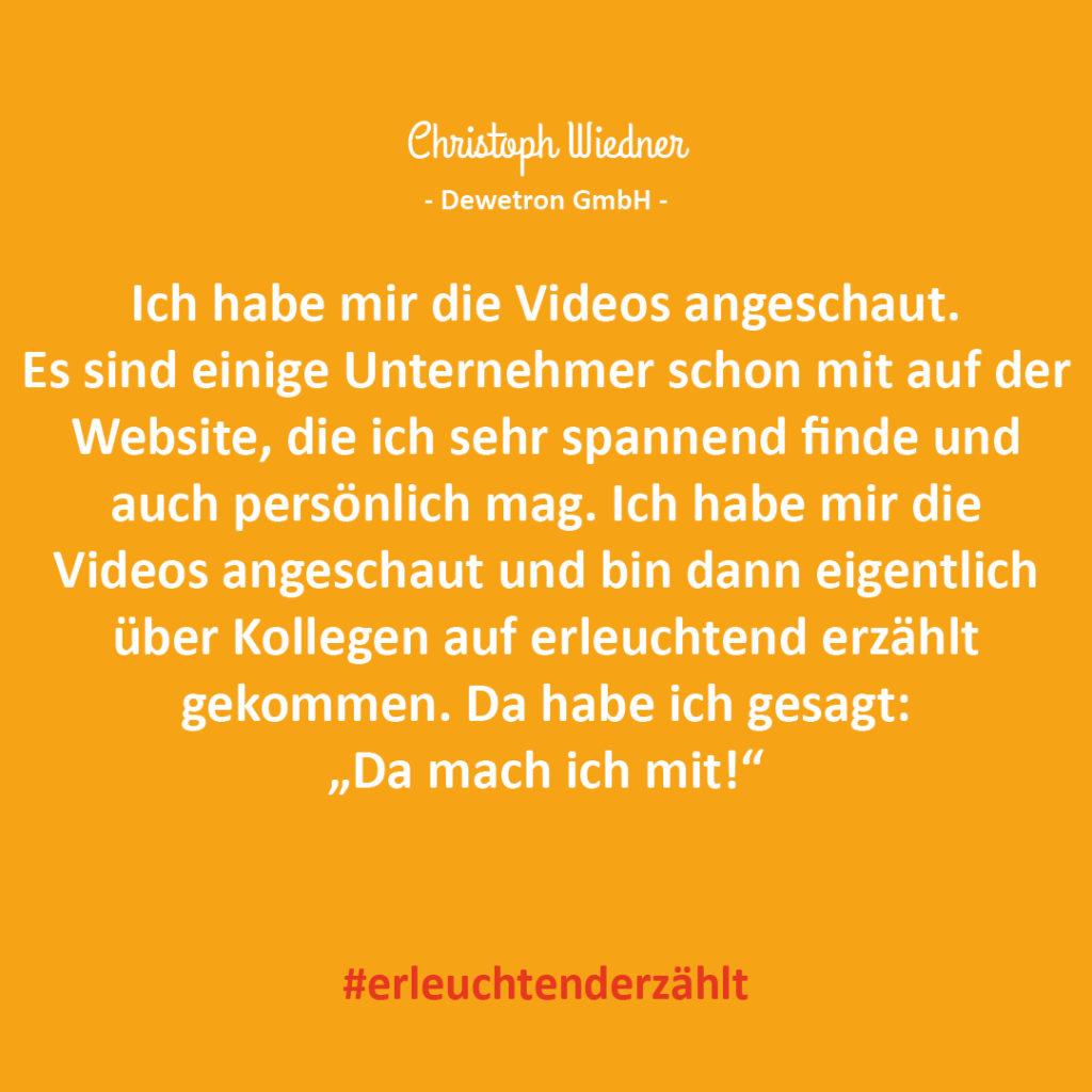 Chef Zitat Christoph Widner Dewetron GmbH