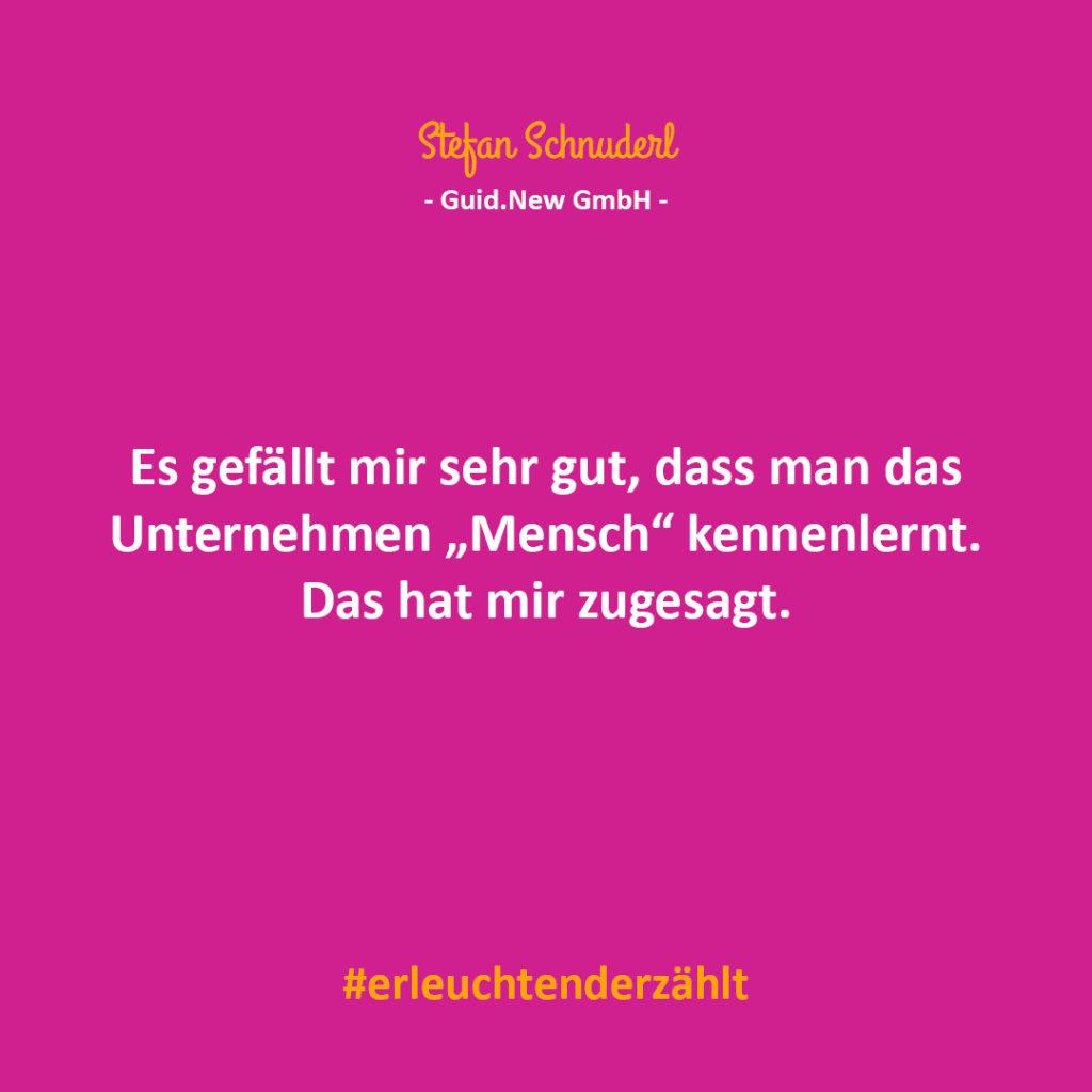 Chef Zitat Stefan Schnuderl guid.new
