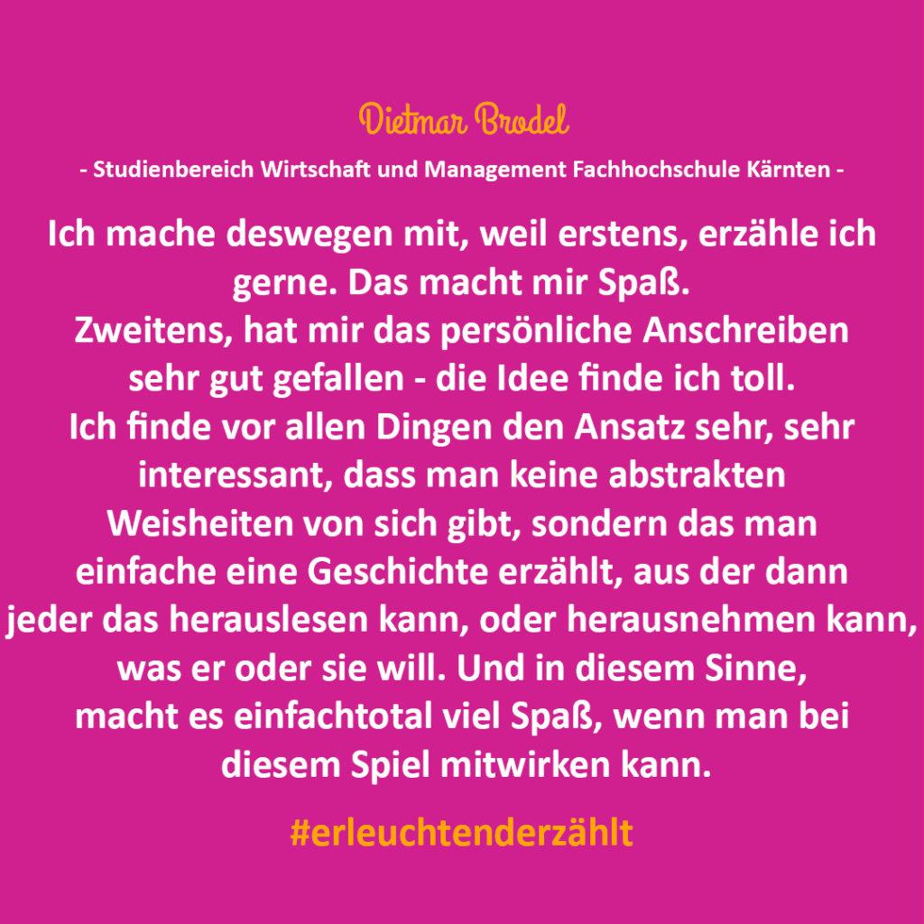 Chef Zitat Dietmar Brodel FH Kärnten