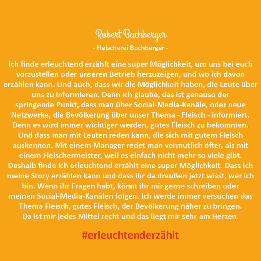 Chef Robert Buchberger Fleischerei